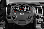 Car pictures of steering wheel view of a 2017 Toyota Sequoia SR5 5 Door SUV Steering Wheel