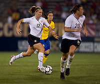 Abby Wambach, Lauren Cheney. The USWNT defeated Sweden, 3-0.