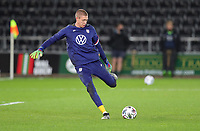 SWANSEA, WALES - NOVEMBER 12: Ethan Horvath #22 of the United States national team warming up before a game between Wales and USMNT at Liberty Stadium on November 12, 2020 in Swansea, Wales.