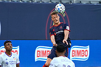 CHICAGO, UNITED STATES - AUGUST 25: Fabian Herbers #21 of Chicago Fire heads the ball during a game between FC Cincinnati and Chicago Fire at Soldier Field on August 25, 2020 in Chicago, Illinois.