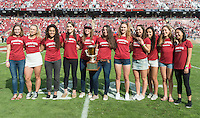 Stanford, CA - November 5, 2016: The Stanford Cardinal vs the Oregon State Beavers at Stanford Stadium. Final score Stanford 26, Oregon State Beavers 15.