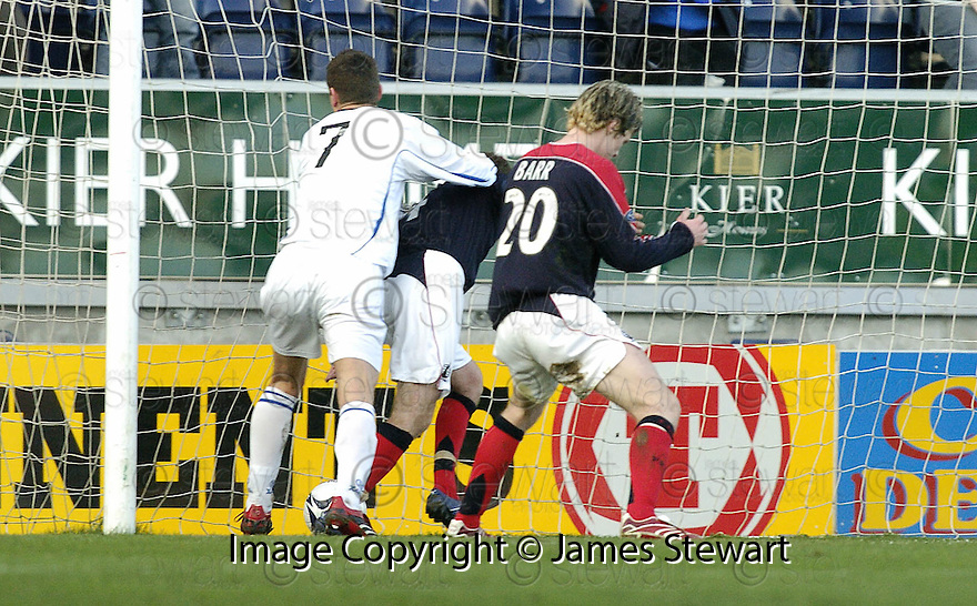 03/02/2007       Copyright Pic: James Stewart.File Name : sct_jspa06_falkirk_v_st_johnstone.MARTIN HARDIE  SCORES ST JOHNSTONE'S FIRST.....James Stewart Photo Agency 19 Carronlea Drive, Falkirk. FK2 8DN      Vat Reg No. 607 6932 25.Office     : +44 (0)1324 570906     .Mobile   : +44 (0)7721 416997.Fax         : +44 (0)1324 570906.E-mail  :  jim@jspa.co.uk.If you require further information then contact Jim Stewart on any of the numbers above.........
