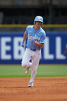 Tyler Lynn (14) of the North Carolina Tar Heels rounds the bases after hitting a home run against the Florida State Seminoles in the 2017 ACC Baseball Championship Game at Louisville Slugger Field on May 28, 2017 in Louisville, Kentucky. The Seminoles defeated the Tar Heels 7-3. (Brian Westerholt/Four Seam Images)