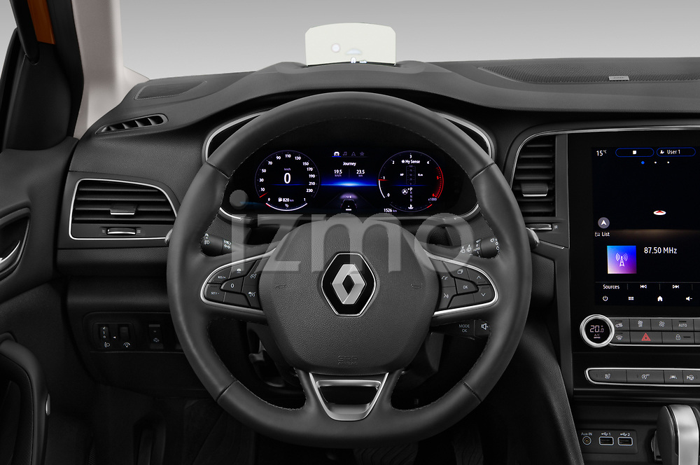 Car pictures of steering wheel view of a 2020 Renault Megane Edition-One 5 Door Hatchback Steering Wheel