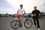 GreenEdge Cycling Team rider Japanese Champion Beppu Fumiyuki (JPN) before the start of Stage 4 of the 2012 Tour of Qatar from Al Thakhira to Madinat Al Shamal, Qatar. 8th February 2012.<br /> (Photo Eoin Clarke/Newsfile)
