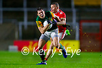 David Moran, Kerry in action against Brian Hurley, Cork, during the Munster GAA Football Senior Championship Semi-Final match between Cork and Kerry at Páirc Uí Chaoimh in Cork.