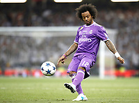Calcio, Champions League: finale Juventus vs Real Madrid. Cardiff, Millennium Stadium, 3 giugno 2017.<br /> Real Madrid's Marcelo in action during the Champions League final match between Juventus and Real Madrid at Cardiff's Millennium Stadium, Wales, June 3, 2017. Real Madrid won 4-1.<br /> UPDATE IMAGES PRESS/Isabella Bonotto