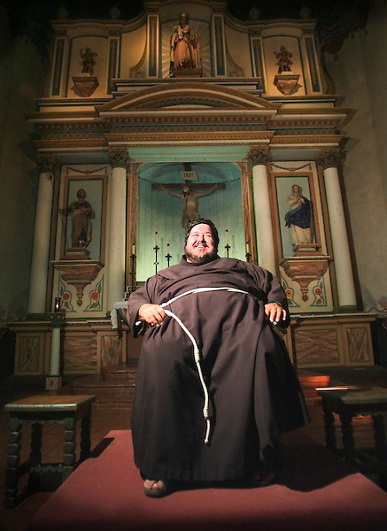 O.ben.0812.jl.photo lytle.Father Ben Innes, new guardian of the Mission San Luis Rey in Oceanside.        Please do not crop photo.