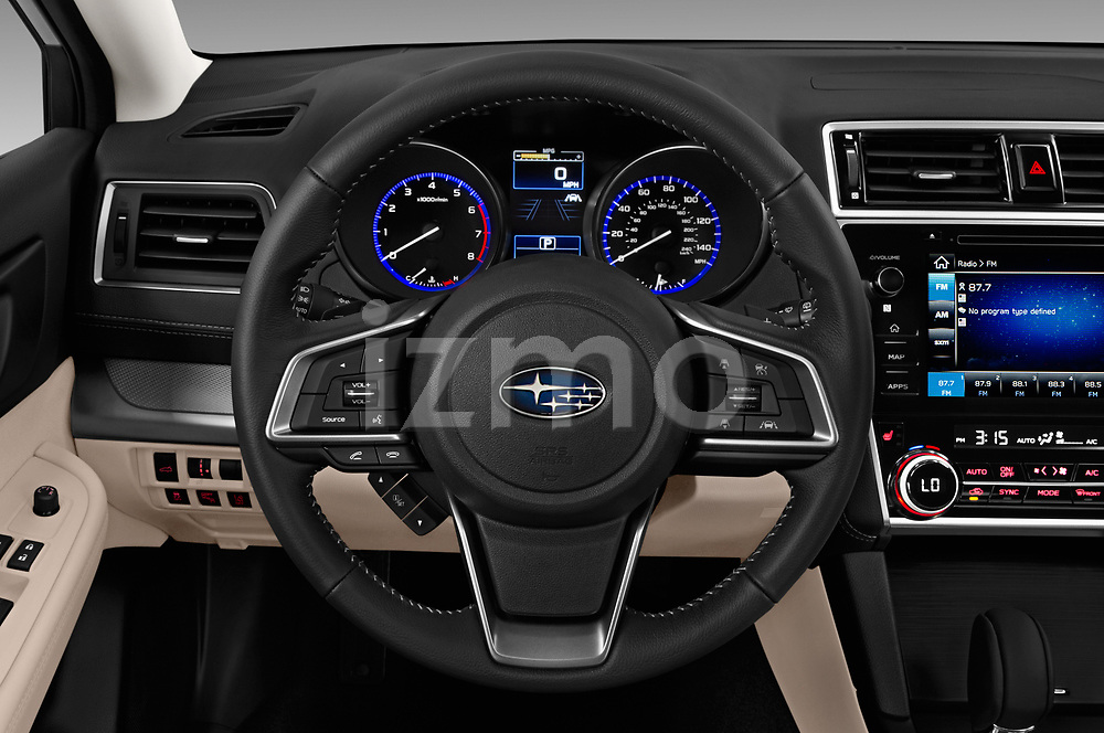 Car pictures of steering wheel view of a 2018 Subaru Outback Premium 5 Door Wagon