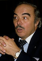 Montreal (Qc) CANADA - File photo taken between 1983 and 1989  - Henri Bergeron, TV Host on Radio-Canada