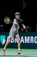 Rotterdam, The Netherlands, 15 Februari, 2018, ABNAMRO World Tennis Tournament, Ahoy, Andrey Rublev (RUS)<br /> <br /> Photo: www.tennisimages.com