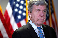 United States Senator Roy Blunt (Republican of Missouri) speaks to members of the media as he arrives to the GOP policy luncheons on Capitol Hill in Washington D.C., U.S., on Wednesday, June 10, 2020.  Credit: Stefani Reynolds / CNP/AdMedia