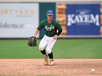 Mosley Dolphins first baseman Jaden  Rudd (24) during practice before the 42nd Annual FACA All-Star Baseball Classic on June 5, 2021 at Joker Marchant Stadium in Lakeland, Florida.  (Mike Janes/Four Seam Images)
