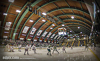 24 November 2013: University of Vermont Catamount host the University of Massachusetts Minutemen at Gutterson Fieldhouse in Burlington, Vermont. The Cats shut out the Minutemen 2-0 to sweep the 2-game home-and-away weekend Hockey East Series. Mandatory Credit: Ed Wolfstein Photo *** RAW (NEF) Image File Available ***