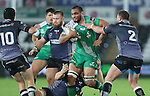 A bloodied Connacht number 8 George Naoupu charges through the Ospreys defence.<br /> Guiness Pro12<br /> Ospreys v Connacht<br /> Liberty Stadium<br /> 31.10.14<br /> ©Steve Pope-SPORTINGWALES