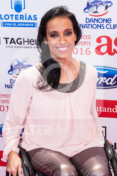 "Teresa Perales during the ""As sports Awards"" at Palace Hotel in Madrid, Spain. december 19, 2016. (ALTERPHOTOS/Rodrigo Jimenez)"