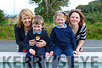 Sandra, Daithi, Pearla nd MAgs Foely on their first day of school in Firies NS on Tuesday