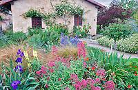 Gardens at the Carmel Mission. Carmel by the Sea, California.