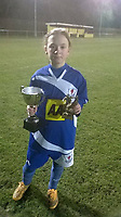 """Pictured: Hollie Smith when she was playing football younger.<br /> Re: Young footballer Hollie Smith fell desperately ill in July 2020 with a severe kidney infection that turned into sepsis in Cardiff, Wales, UK.<br /> She lived through a nightmare 12 months which saw her suffer two cardiac arrests, endure daily seizures, and lose the movement down the right side of her body.<br /> She is now confined to the living room of her home in the Ely area of Cardiff, uses a wheelchair, and needs support from her family and carers.<br /> The former pupil at Bishop of Llandaff Church in Wales High School, said she had suffered with kidney infections before which had been treated effectively without any complications.<br /> In the middle of July 2020 she started having a """"niggle in her back"""" which she assumed was another flare-up which could be rectified easily."""