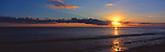 Kiribati Panorama - Sunset on lagoon in Kiritimati (Christmas Island), Kiribati <br /> <br /> Image taken on large format panoramic 6cm x 17cm transparency. Available for licencing and printing. email us at contact@widescenes.com for pricing.
