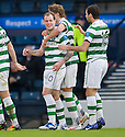 CELTIC'S ANTHONY STOKES CELEBRATES AFTER HE SCORES CELTIC'S SECOND.