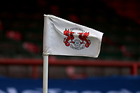 Leyton Orient corner flag during Leyton Orient vs Harrogate Town, Sky Bet EFL League 2 Football at The Breyer Group Stadium on 21st November 2020