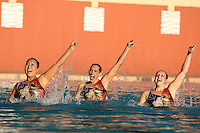 STANFORD, CA - FEBRUARY 7:  (L-R) Debbie Chen, Erin Bell, and Michelle Moore of the Stanford Cardinal during Stanford's 88-78 win against the Incarnate Word Cardinals on February 7, 2009 at Avery Aquatic Center in Stanford, California.