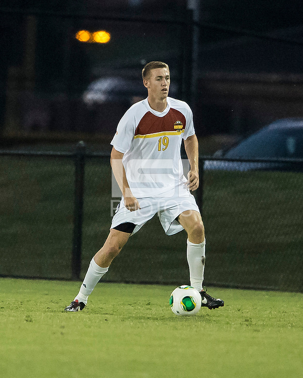 The Winthrop University Eagles played the College of Charleston Cougars at Eagles Field in Rock Hill, SC.  College of Charleston broke the 1-1 tie with a goal in the 88th minute to win 2-1.  Kyle Kennedy (19)
