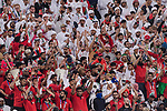 Fans of United Arab Emirates cheer during the AFC Asian Cup UAE 2019 Semi Finals match between Qatar (QAT) and United Arab Emirates (UAE) at Mohammed Bin Zaied Stadium  on 29 January 2019 in Abu Dhabi, United Arab Emirates. Photo by Marcio Rodrigo Machado / Power Sport Images