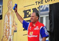 Feb. 19, 2012; Chandler, AZ, USA; NHRA funny car driver Johnny Gray during the Arizona Nationals at Firebird International Raceway. Mandatory Credit: Mark J. Rebilas-