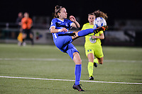 Gwen Duijsters (13) of KRC Genk pictured during a female soccer game between  Racing Genk Ladies and AA Gent Ladies ,  on the 6 th  matchday of the 2021-2022 season of the Belgian Scooore Womens Super League , friday 8 october 2021  in Genk , Belgium . PHOTO SPORTPIX | JILL DELSAUX
