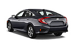Car pictures of rear three quarter view of 2018 Honda Civic Touring CVT 4 Door Sedan Angular Rear