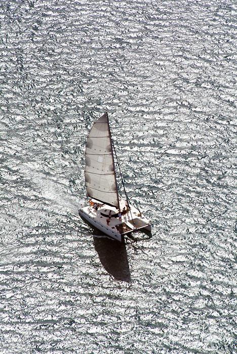Navigation sur le lagon