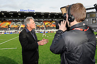 20130216 Copyright onEdition 2013©.Free for editorial use image, please credit: onEdition..Saracens chairman Nigel Wray talks to the media before the Premiership Rugby match between Saracens and Exeter Chiefs at Allianz Park on Saturday 16th February 2013 (Photo by Rob Munro)..For press contacts contact: Sam Feasey at brandRapport on M: +44 (0)7717 757114 E: SFeasey@brand-rapport.com..If you require a higher resolution image or you have any other onEdition photographic enquiries, please contact onEdition on 0845 900 2 900 or email info@onEdition.com.This image is copyright onEdition 2013©..This image has been supplied by onEdition and must be credited onEdition. The author is asserting his full Moral rights in relation to the publication of this image. Rights for onward transmission of any image or file is not granted or implied. Changing or deleting Copyright information is illegal as specified in the Copyright, Design and Patents Act 1988. If you are in any way unsure of your right to publish this image please contact onEdition on 0845 900 2 900 or email info@onEdition.com