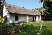Traditional thatched farm house at Sigliget - Balaton, Hungary