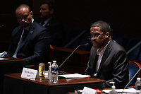 """Darrell Scott, senior pastor for the New Spirit Revival Center testifies during a House Judiciary Committee hearing on """"Policing Practices and Law Enforcement Accountability"""", on Capitol Hill, in Washington D.C., Wednesday, June 10, 2020.<br /> Credit: Graeme Jennings / Pool via CNP/AdMedia"""