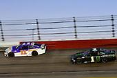 #11: Denny Hamlin, Joe Gibbs Racing, Toyota Camry Federal Express, #1: Kurt Busch, Chip Ganassi Racing, Chevrolet Camaro Monster Energy
