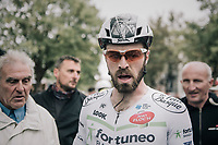 Daniel McLay (GBR/Fortuneo-Vital Concept) wins the 77th Euro Metropole Tour 2017 with his stand-out helmet graphics by Karl Kopinski<br /> <br /> La Louvière > Tournai (BEL): 188.6 km