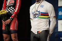 gold medal & rainbow jersey for Leo Appelt (DEU)<br /> <br /> Junior Men TT<br /> UCI Road World Championships / Richmond 2015