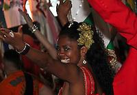 SAO PAULO, SP, 09 DE DEZEMBRO DE 2011, Integrante da X9 Paulistana, no LANÇAMENTO DO CD DA LIGA DAS ESCOLAS DE SAMBA 2012 na quadra da Escola de Samba Rosas de Ouro, zona norte de SP.  (FOTO: MILENE CARDOSO / NEWS FREE)