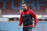 Player-Assistant Manager Leon Britton of Swansea City smiles prior to the Premier League match between Burnley and Swansea City at Turf Moor, Burnley, England, UK. Saturday 18 November 2017
