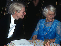 Warhol Carter1273.JPG<br /> 1977 FILE PHOTO<br /> New York, NY<br /> Andy Warhol Lillian Carter at Studio 54<br /> Photo by Adam Scull-PHOTOlink.net<br /> ONE TIME REPRODUCTION RIGHTS ONLY<br /> NO WEBSITE USE WITHOUT AGREEMENT<br /> E-TABLET/IPAD & MOBILE PHONE APP<br /> PUBLISHING REQUIRE ADDITIONAL FEES<br /> 718-374-3733-OFFICE - 917-754-8588-CELL<br /> eMail: INFO@PHOTOLINK.NET