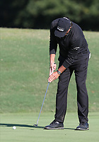 17th October 2020; Richmond, Virginia, USA; Phil Mickelson taps in a short putt on the 18th green during the Dominion Energy Charity Classic on October 17, 2020, at The Country Club of Virginia James River Course in Richmond
