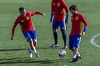 Spainsh Lucas Vazquez and David Silva during the training of the spanish national football team in the city of football of Las Rozas in Madrid, Spain. November 09, 2016. (ALTERPHOTOS/Rodrigo Jimenez) ///NORTEPHOTO.COM