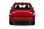 Straight rear view of 2020 Skoda Karoq Sport-Line 5 Door SUV Rear View  stock images