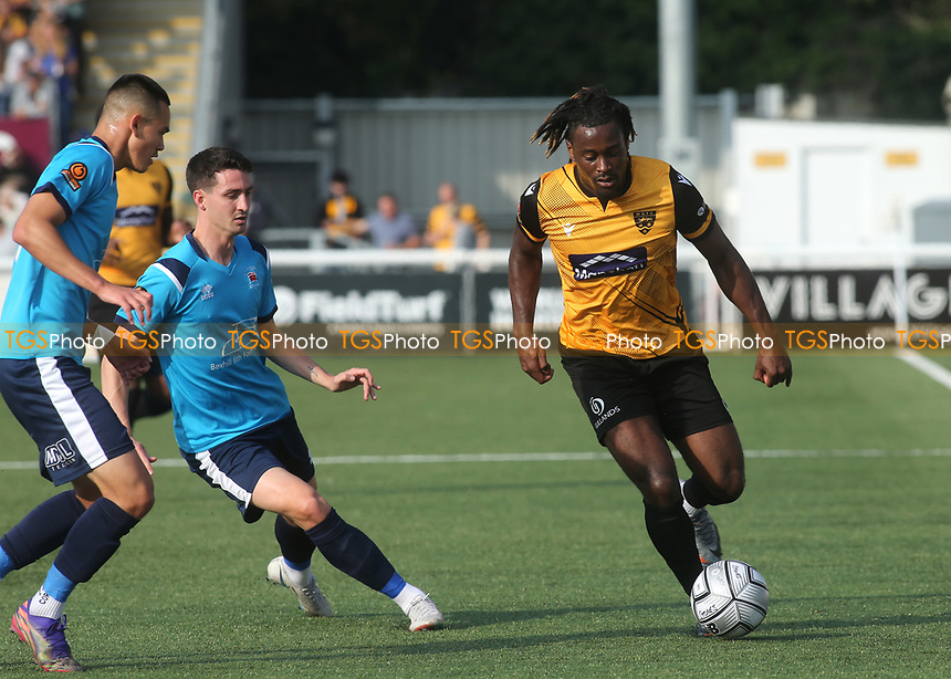 Christie Pattison of Maidstone United in action during Maidstone United vs Eastbourne Borough, Vanarama National League South Football at the Gallagher Stadium on 9th October 2021