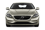 Car photography straight front view of a 2017 Volvo V40 Momentum 5 Door Hatchback Front View