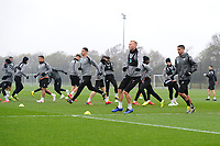 Mike van der Hoorn of Swansea City in action during the Swansea City Training at The Fairwood Training Ground in Swansea, Wales, UK. Tuesday 16 April 2019