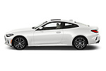 Car Driver side profile view of a 2022 BMW 4-Series-Coupe 430i-Sport 2 Door Coupe Side View