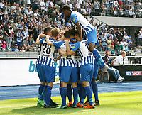 Vedad Ibisevic 1:1    celebration   1:1 Ausgleich   <br /> / Sport / Football / DFL 1. Bundesliga Bundesliga  /  2017/2018 / 12.05.2018 / Hertha BSC Berlin vs. RB Leipzig RBL 180512006 /  *** Local Caption *** © pixathlon<br /> Contact: +49-40-22 63 02 60 , info@pixathlon.de